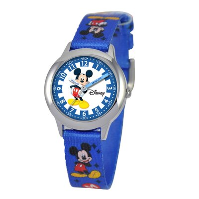 Disney Kid's Mickey Mouse Time Teacher Watch in Blue