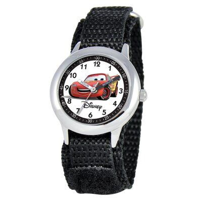 Disney Kid's Cars Time Teacher Velcro Watch in Black