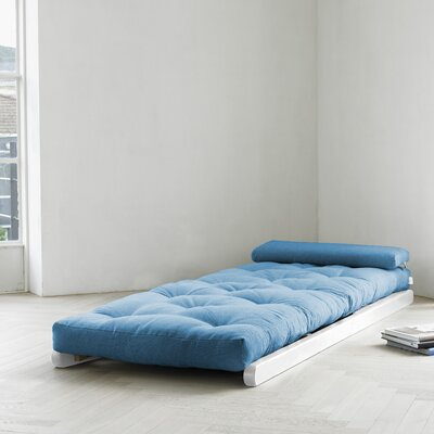 Fresh Futon Fresh Futon Figo with White Frame in Horizon Blue