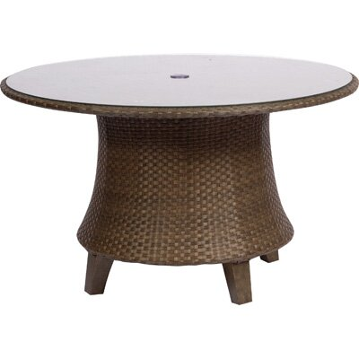 Woodard Del Cristo Round Umbrella Dining Table