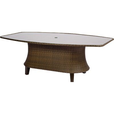 Woodard Del Cristo Oval Umbrella Dining Table