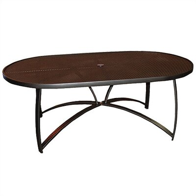 Woodard Wyatt Oval Umbrella Dining Table