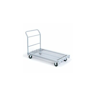Raymond Products Heavy Duty Platform Truck, Phenolic Casters, 2 Fixed and 2 Swivel, 1 Push Handle and 1 End Handle