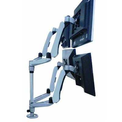 Cotytech Four Monitor Desk Mount Spring Arm Quick Release