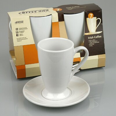 Konitz Coffee Bar 10 oz. Irish Coffee Cup and Saucer (Set of 2)