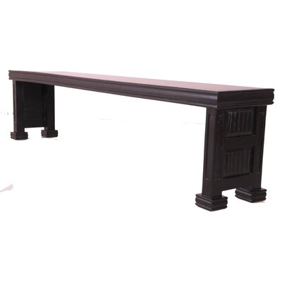 Wesley Pedestal Wood Bench