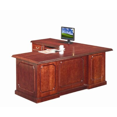 Absolute Office Heritage L-Shaped Executive Desk with Reversible Pedestals