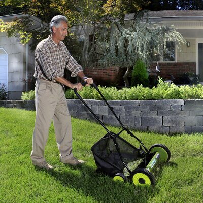 "Sun Joe 18"" Reel Mower with Catcher"
