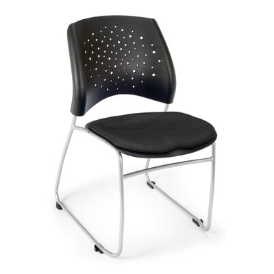 OFM Stars and Moon Stacking Chair with Molded Polypropylene Back, 4-Pack