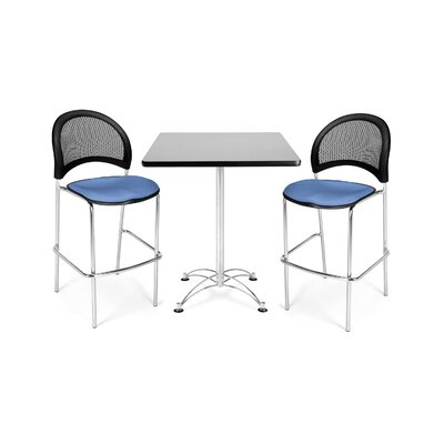 "OFM 30"" Square Café Table with Height Chair"
