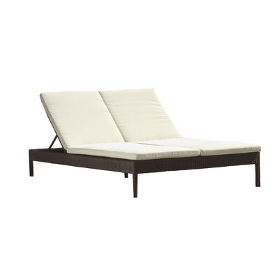 Source Outdoor Manhattan Double Chaise Lounge with Cushion
