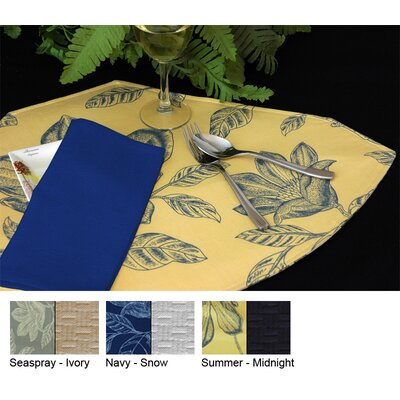 Pacific Table Linens Bouquet Reversible Wedge Placemat (Set of 2)
