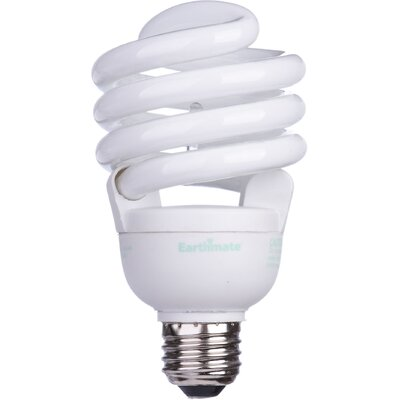 Earthmate 30 Watt Full Spectrum Spiral Compact Fluorescent  Light Bulb