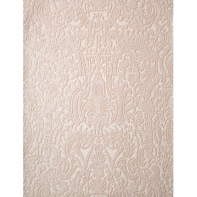 York Wallcoverings Barbara Becker Raised Surface Faux Textile Unframed Damask Wallpaper