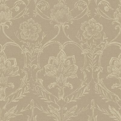 French Dressing Sheer Fabric Damask Wallpaper