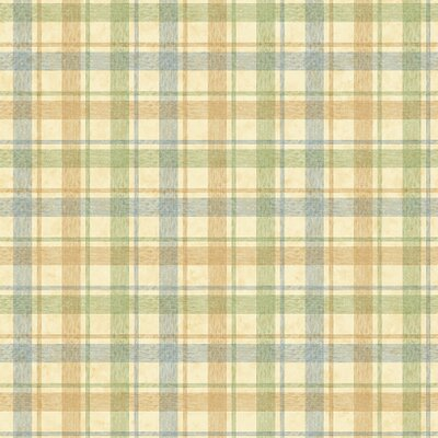 York Wallcoverings York Kids IV Woven Plaid Wallpaper