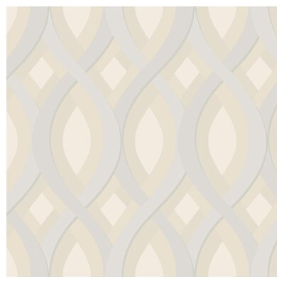 York Wallcoverings Candice Olson Dimensional Surfaces Oval and Diamond Geometric Wallpaper