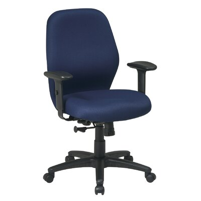 Office Star Products Mid-Back Office Chair with Arms