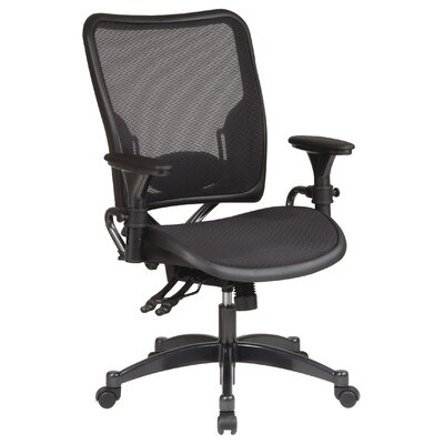 Office Star Products SPACE Dual Function Mid-Back Office Chair with Arms
