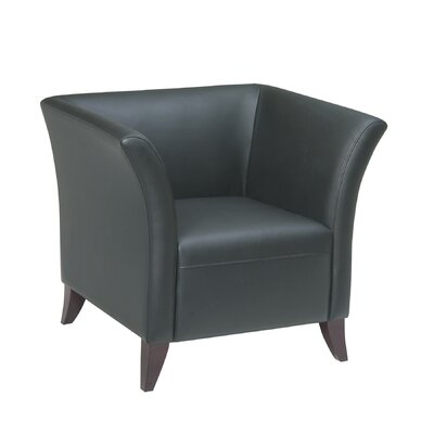Office Star Products Leather Lounge Chair with Open Wing