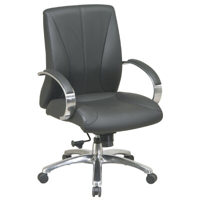 Office Star Products High-Back ProLine II Deluxe Mid-Back Leather Executive Chair