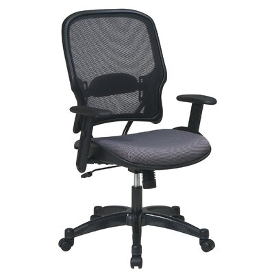 "Office Star Products 28"" Air Grid Back and Fabric Seat Managerial Chair"