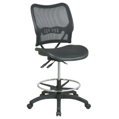 Office Star Products Air Grid Back and Seat Space Deluxe Ergonomic Drafting Chair