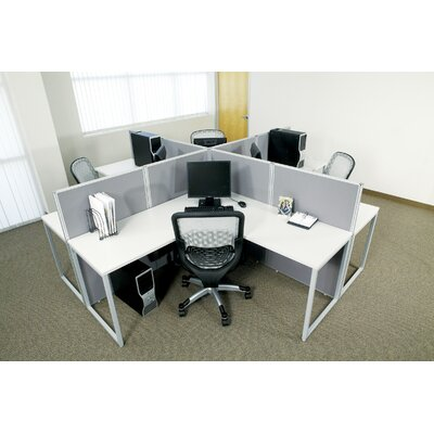 Office Star Products Box Office Typical Three Configuration Computer Workstation