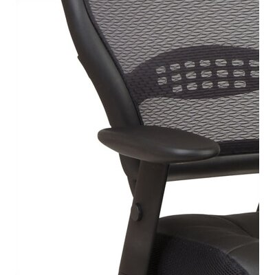 Office Star Products SPACE Deluxe Mid-Back Managerial Chair with Arms