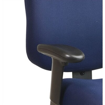 Office Star Products Mid-Back Office Chair with Seat Slider