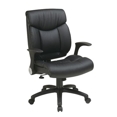 Office Star Products Managers Chair with Flip Arms