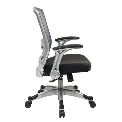 Office Star Products Professional Light Air Grid Chair with Flip Arms