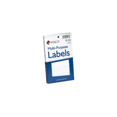 Chartpak Maco Multipurpose Self-Adhesive Removable Labels in White