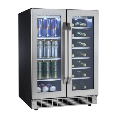 Danby Silhouette 5.0 cu.ft. Built-In Dual Zone Beverage Center