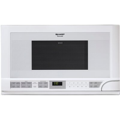 Sharp 1100W Over the Counter Microwave Oven in White