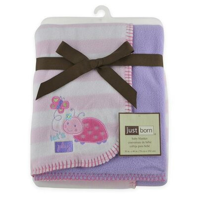 Triboro Just Born 2 Ply Ladybug Reversible Blanket