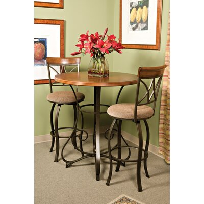 Powell Furniture Cafe Hamilton Swivel Barstool in Matte Pewter/Bronze