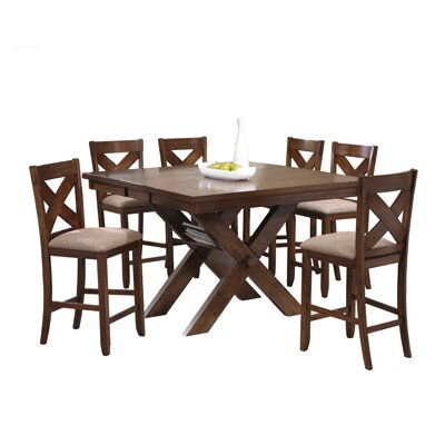 Powell Furniture Kraven 7 Piece Counter Height Dining Set