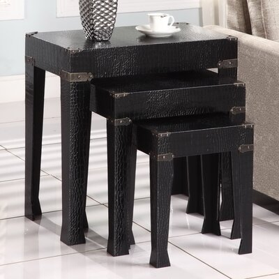 Powell Furniture Crocodile 3 Piece Nesting Tables