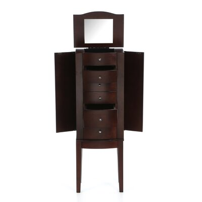 Powell Furniture Jewelry Armoire in Merlot