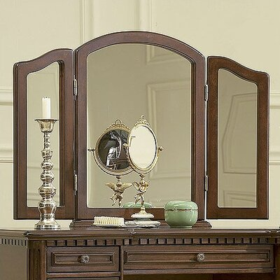 "Powell Furniture 43"" Warm Cherry Vanity Set"