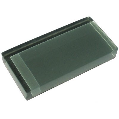"Diamond Tech Tiles Dimensions Solid 6"" x 3"" Glass Tile in Gray"