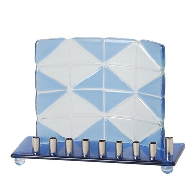 Israel Giftware Design Fused Glass Menorah