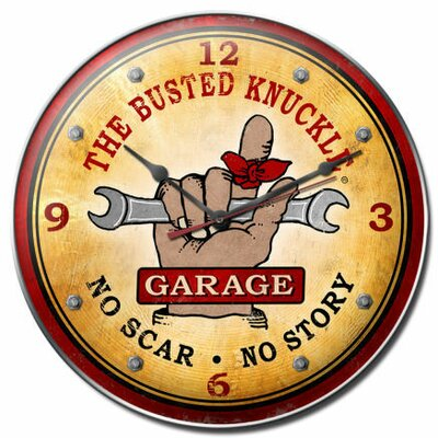 Busted Knuckle Garage Wall Clock