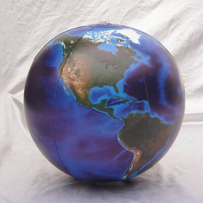 "Inflatable Globes 12"" Blue Marble Globe (Pack of 24)"