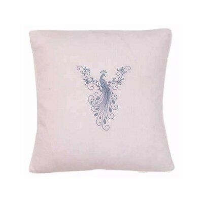 Peacock Linen / Cotton Blend Throw Pillow