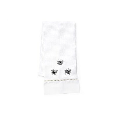 Jacaranda Living Black Napoleon Bee Hand Towel