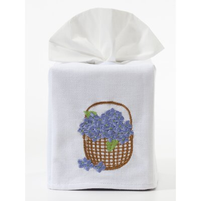 Jacaranda Living Blue Hydrangea Basket Tissue Box Cover