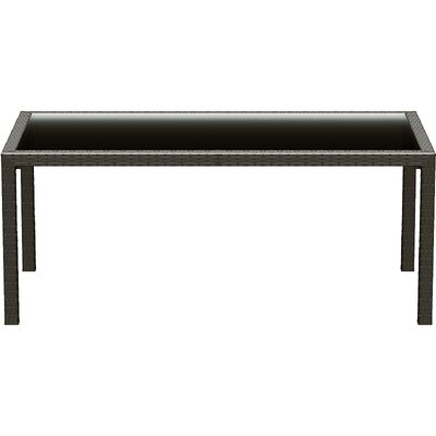 Compamia 71&quot; Miami Resin Wickerlook Rectangle Dining Table