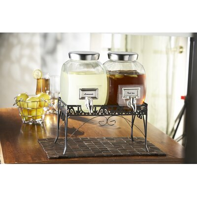 Williamsburg 1 Gallon Glass Beverage Dispenser Set